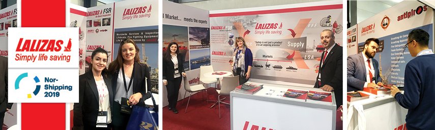 LALIZAS presenting its FSR department at Nor-Shipping 2019