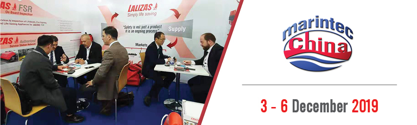 LALIZAS in Shanghai; taking part as exhibitors at one of the largest maritime exhibitions in China, the MarinTec 2019!