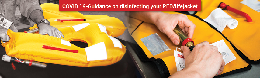 COVID 19-Guidance on disinfecting your PFD/lifejacket