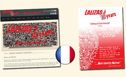 LALIZAS website also available in French