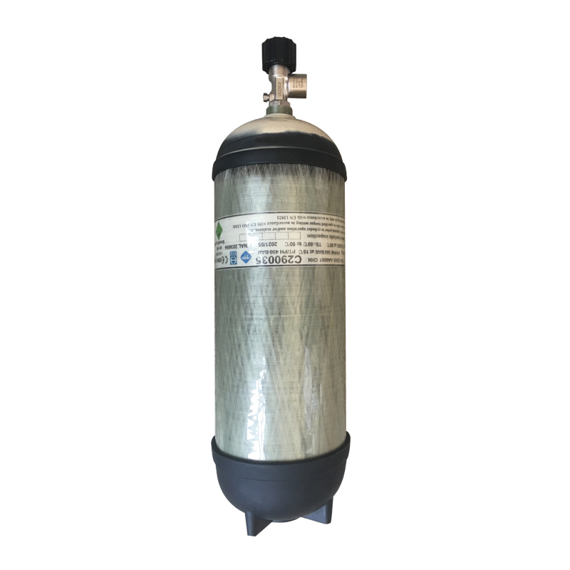 Spare compressed air cylinder ,9lt+ Valve 300bar assembled, with air 02303 image