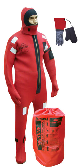 LALIZAS Immersion Suit 'Neptune',SOLAS,Universal, Insulated - with rubber gloves 70457 image