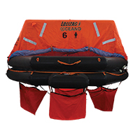 LALIZAS Liferaft SOLAS OCEANO, Throw Over-board Type,6 prs. canister (A) 79867 image