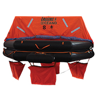 LALIZAS Liferaft SOLAS OCEANO, Throw Over-board Type,8 prs. canister (A) 79868 image