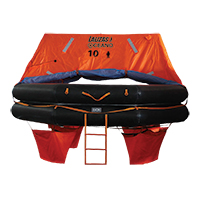 LALIZAS Liferaft SOLAS OCEANO, Throw Over-board Type,10 prs. canister (A) 79869 image