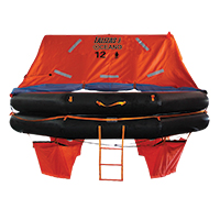 LALIZAS Liferaft SOLAS OCEANO, Throw Over-board Type,12 prs. canister (A) 79870 image