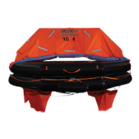LALIZAS Liferaft SOLAS OCEANO, Throw Over-board Type,16 prs.canister (B) 79908 image