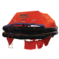 LALIZAS Liferaft SOLAS OCEANO, Throw Over-board Type,20 prs. canister (A) 79873 image