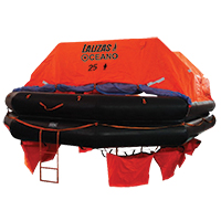 LALIZAS Liferaft SOLAS OCEANO, Throw Over-board Type,25 prs. canister (A) 79874 image