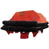LALIZAS Liferaft SOLAS OCEANO, Throw Over-board Type,30 prs. canister (A) 79875 image
