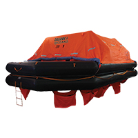 LALIZAS Liferaft SOLAS OCEANO, Throw Over-board Type,35 prs. canister (A) 79876 image