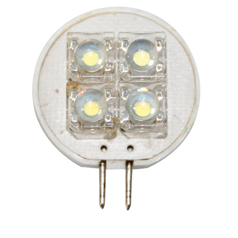 Bulb 12V, LED, T25, cool white - 4 PIRANHA LEDs image