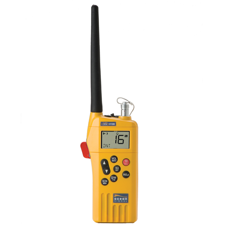Ocean Signal GMDSS Handheld Radio Kit with accessory socket V100A image